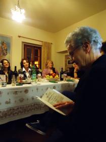 "Ida Bartolucci - ""granny Ida"" - entertaining her guests"