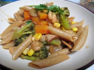A whole wheat pasta recipe