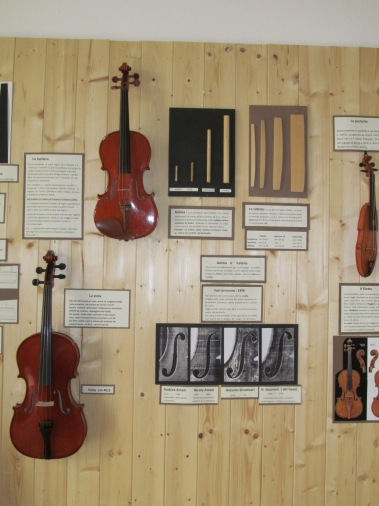 Exhibits in the Museum of Musical Instruments in Pesaro