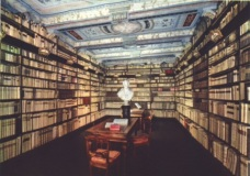Palazzo Leopardi, the library