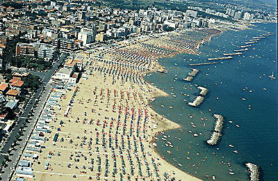 Another view of the beach of Pesaro