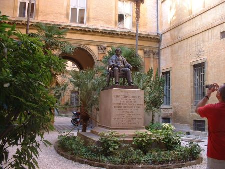 Statue of Rossini in the Conservatory