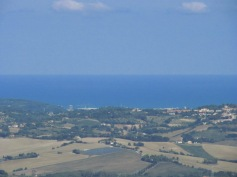 Landscape on the Adriatic Sea
