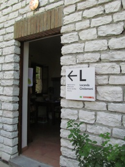 The entrance to 'Locanda Girolomoni'
