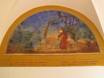 The miracle of Beato Sante (the taming of the wolf)