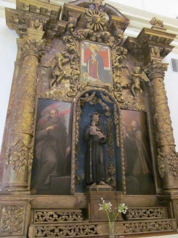 Saint Francis inside the church