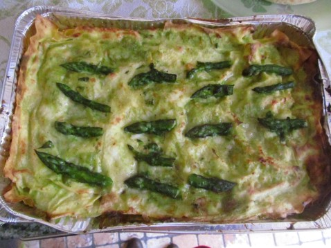 Nonna Lella's own green lasagne