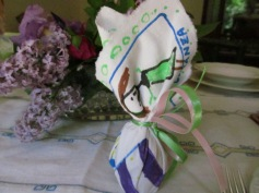 Easter egg decorated by 5-year-old Costanza