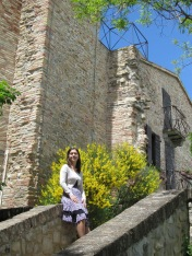 Me in front of the church