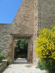 The church in Fiorenzuola: a detail