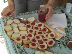 an Italian 'merenda' (snack) with home made strawberry jam