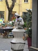 Street artist in Collenuccio square