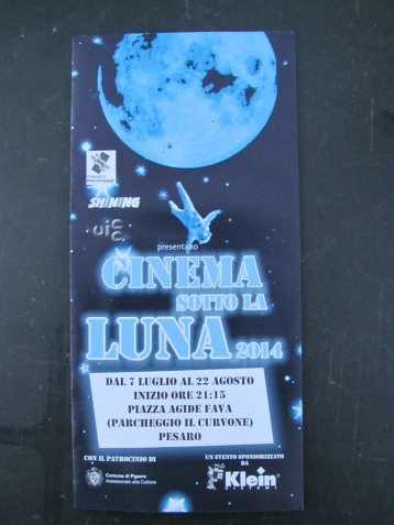 'Cinema in the moonlight' - the programme