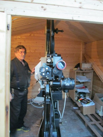 Mr Giancarlo Simoncelli, the projectionist
