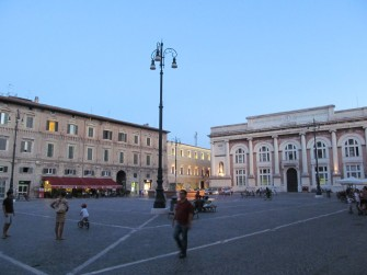 Piazza del Popolo in the heart of Pesaro