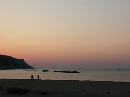Pink sunset at Baia Flaminia