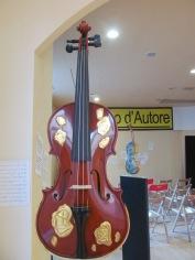 Violin decorated by Marcello Jori, artist