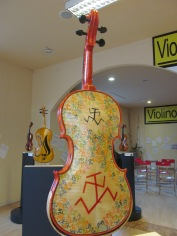 Violin decorated by Filippo Scozzari, cartoonist, illustrator and writer