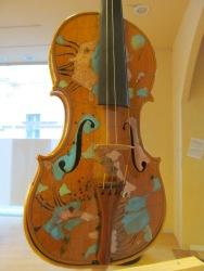 Violin decorated by Riccardo Dalisi, architect, designer and artist made by violin maker Ezia Di Labio