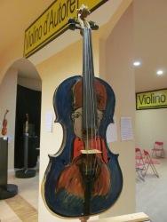 One of Ezia Di Labio's violins (decorated by Tonino Guerra)