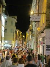 Branca street in the summertime in Pesaro