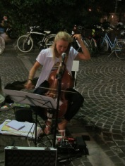 A viola da gamba player