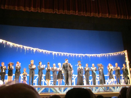 Young talents from Accademia Rossiniana performing 'Il Viaggio a Reims' during Rossini Opera Festival in Pesaro