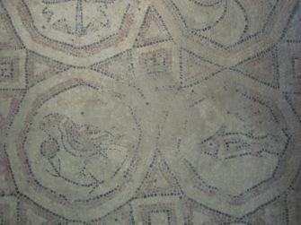 Mosaic pavement - a detail