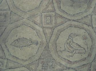 Mosaic floor- a detail