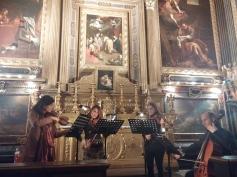 Tetraktys quartet inside the church of Nome di Dio