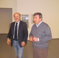 Palmiro Ucchielli, mayor of the municipality of Vallefoglia with Vito