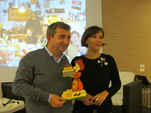 Vito with Cristina Ortolani, founder of the event