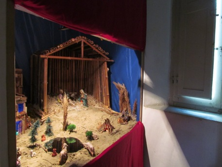 Nativity scene inside St. Joseph's