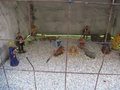 Nativity scene made up by prisoners