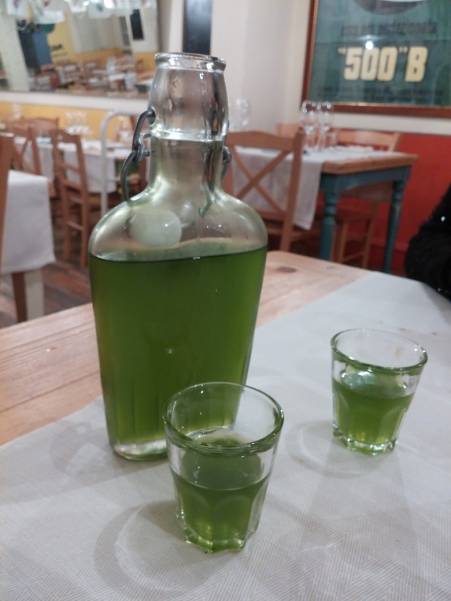 Homemade wild fennel liqueur --delicious!