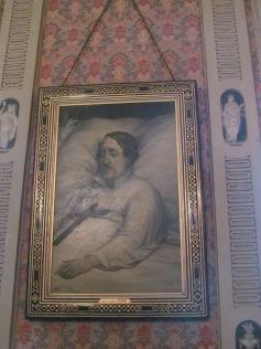 Rossini in his death bed (Tempietto Rossiniano)