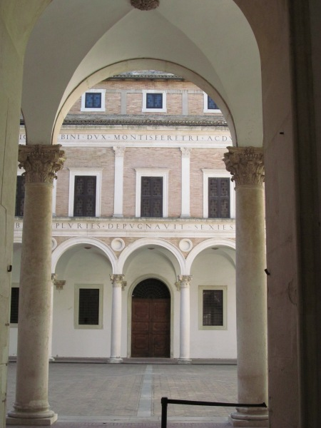 The Courtyard of Honour inside the Ducal Palace