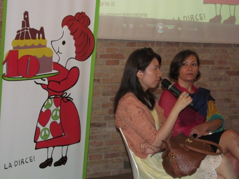 Cristina Ortolani and Mrs Yanmin Lu