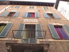 Rossini's birthplace in Pesaro