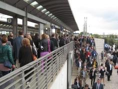 People flocking towards the fair
