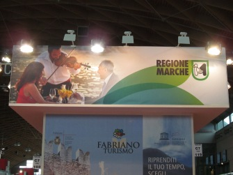 The booth of my region (Regione Marche)