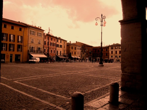 The main square in Fano