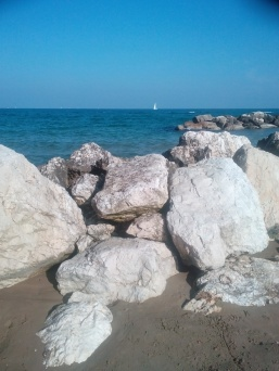 Pesaro beach and cliffs