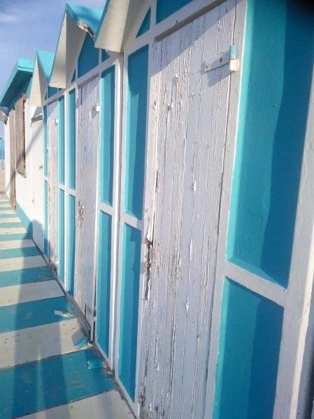 bathing huts