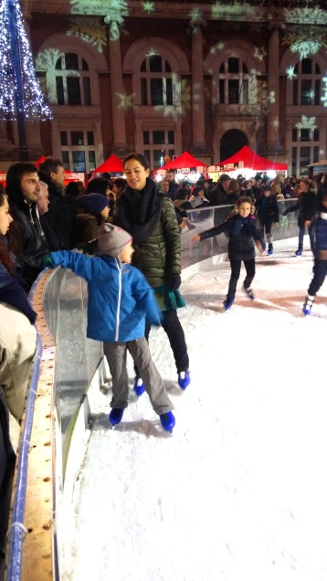 That's me trying to look cool on skates...