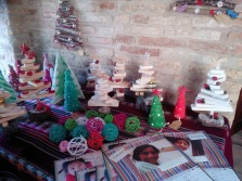 Christmas decorations by a charity project