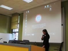 Cristina giving her speech