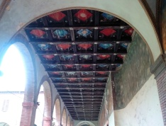 Cloister - the painted ceiling