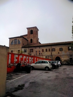 The back of the church and of the cloister in via Severini