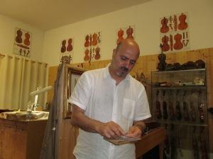 Maestro Violin Maker Daniele Canu
